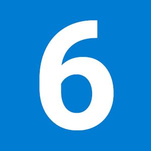 sechs Maschinen